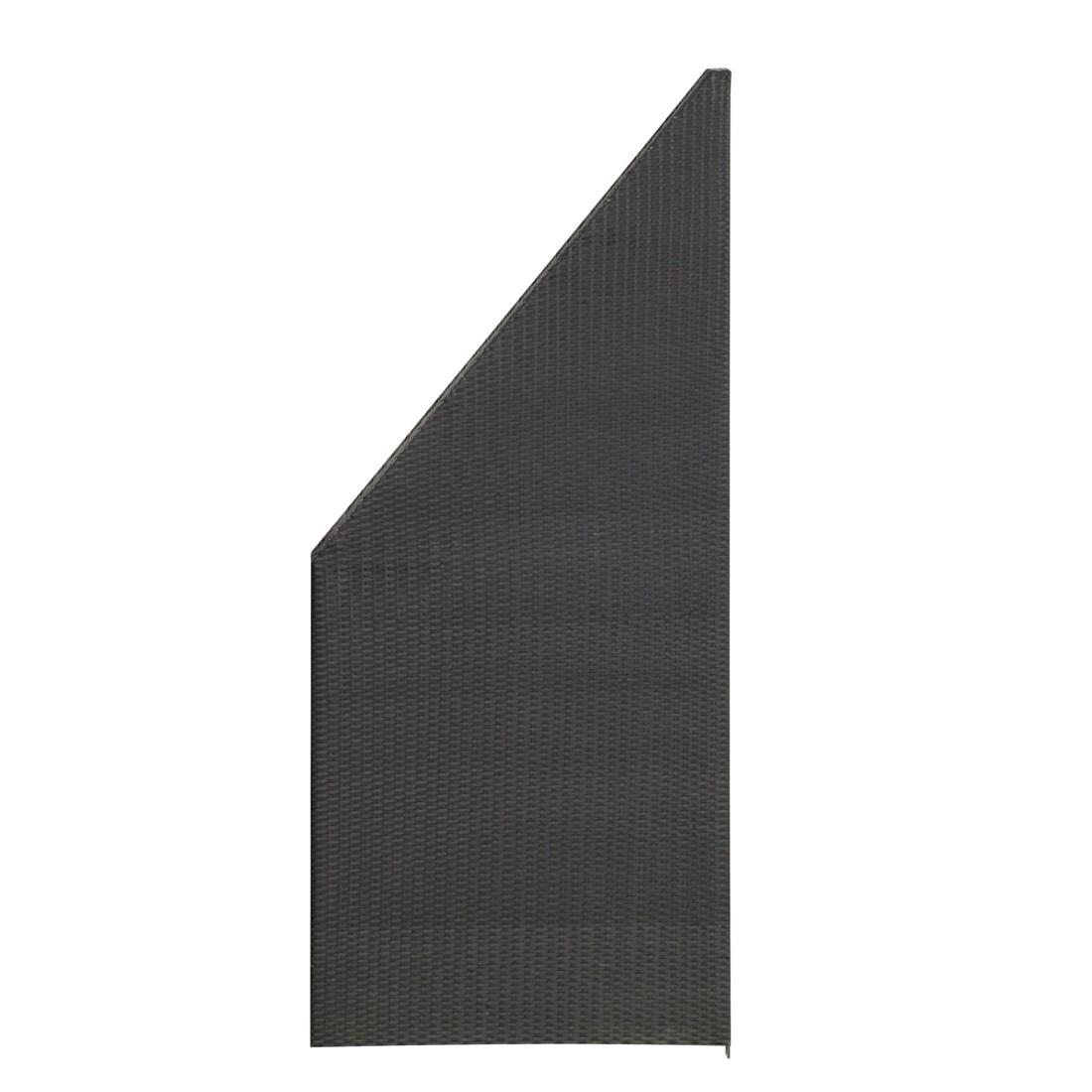 Sichtschutz-Element – 80 x 180/90 cm – Polyrattan – Anthrazit, Gartenfreude jetzt kaufen