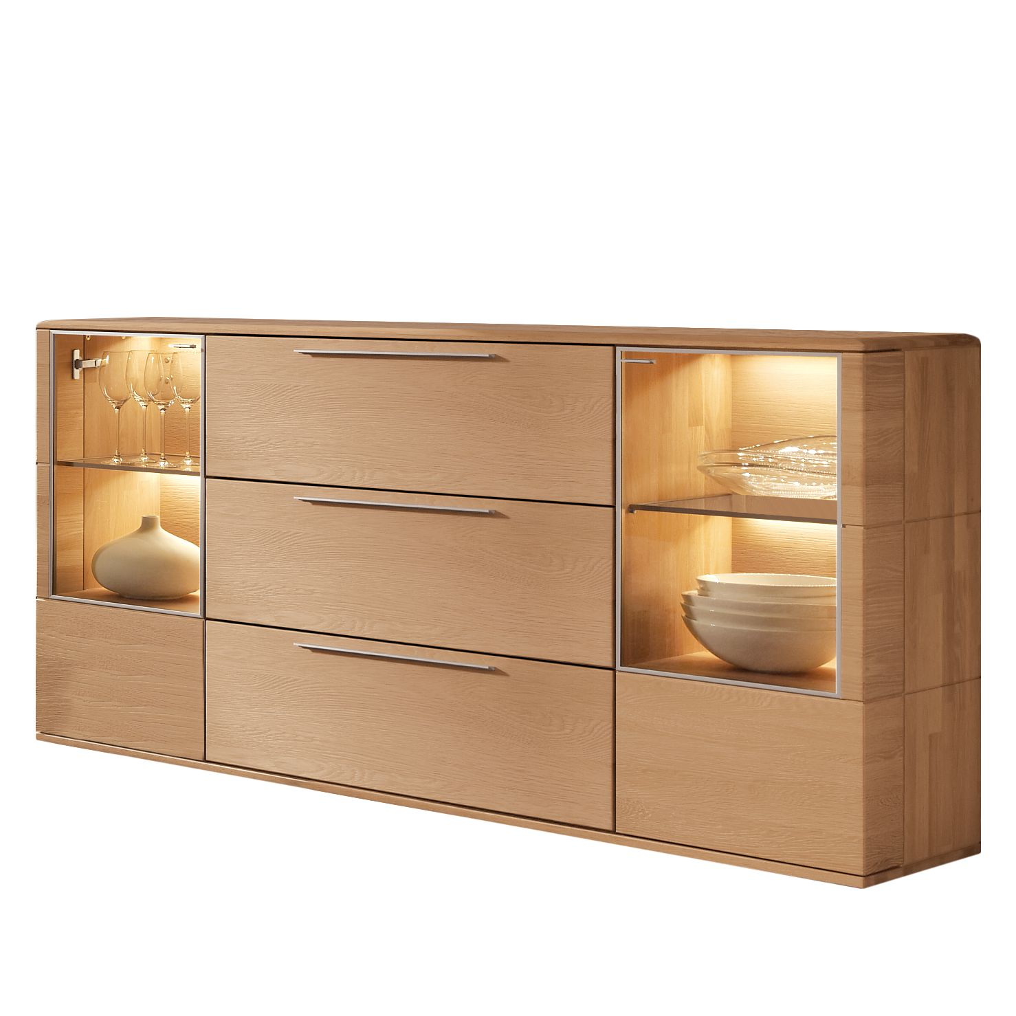 sideboard eiche massiv g nstig kaufen. Black Bedroom Furniture Sets. Home Design Ideas