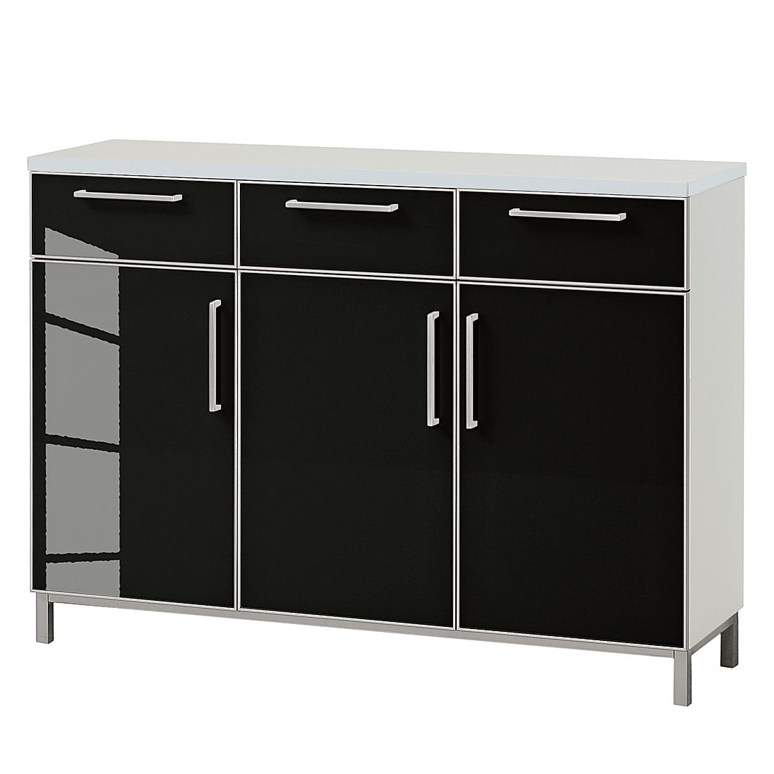sideboard alves wei glas anthrazit voss jetzt bestellen. Black Bedroom Furniture Sets. Home Design Ideas