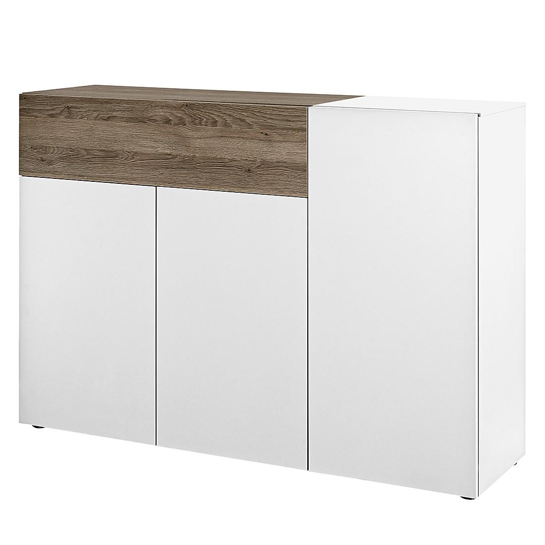 Sideboard Beam I – Weiß / Eiche Dunkel Dekor, Arte M günstig kaufen