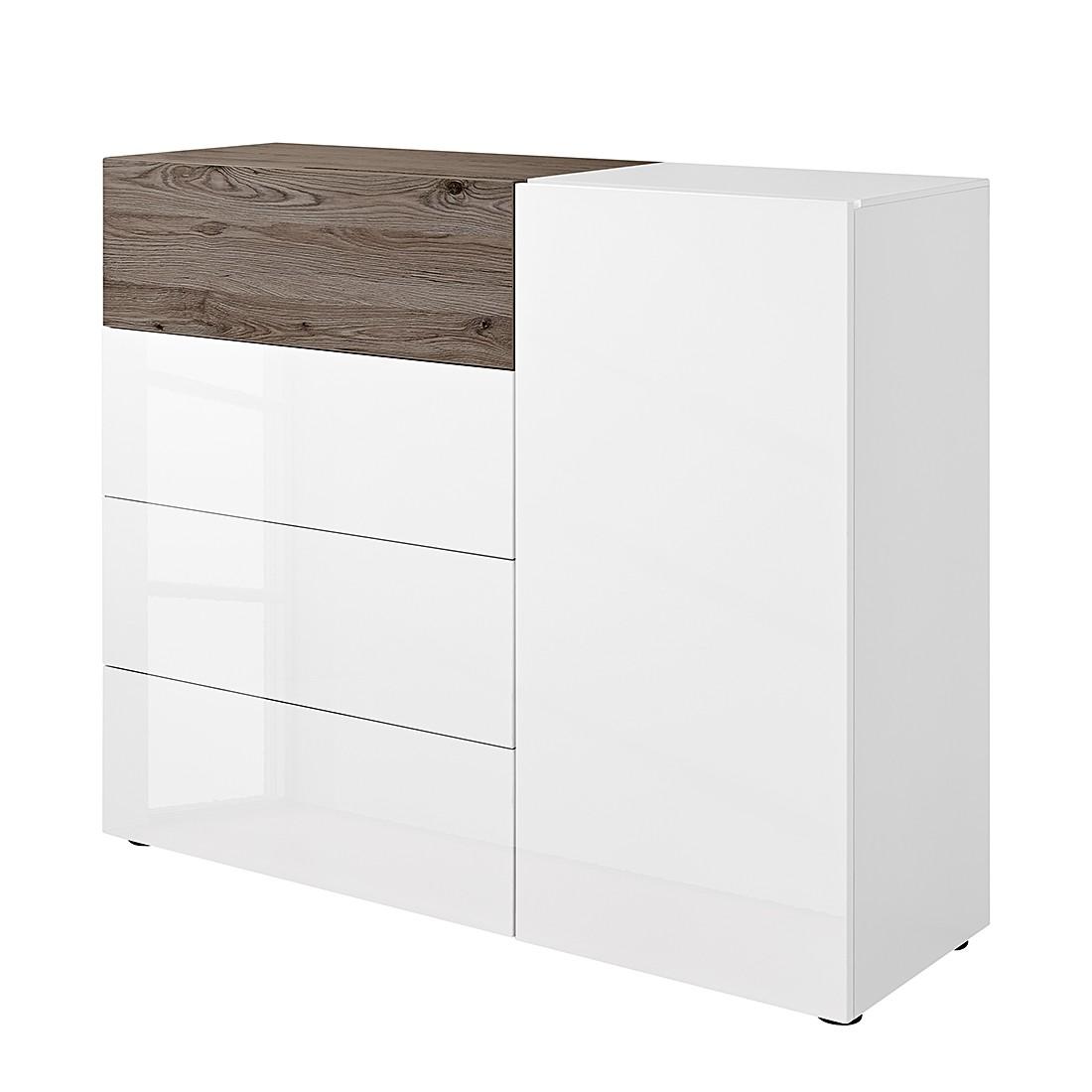sideboard beam ii wei hochglanz wei eiche dunkel dekor arte m. Black Bedroom Furniture Sets. Home Design Ideas