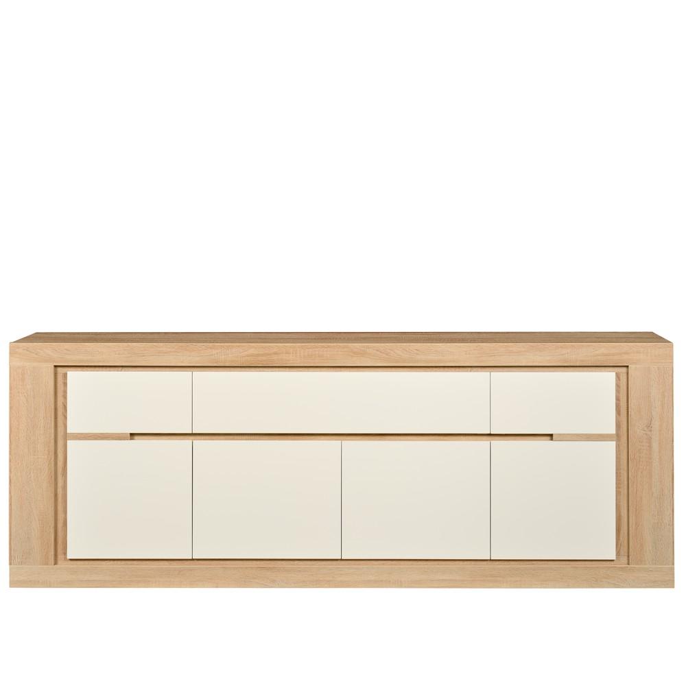 Sideboard Bendura - Eiche Dekor/Weiß - Softclose