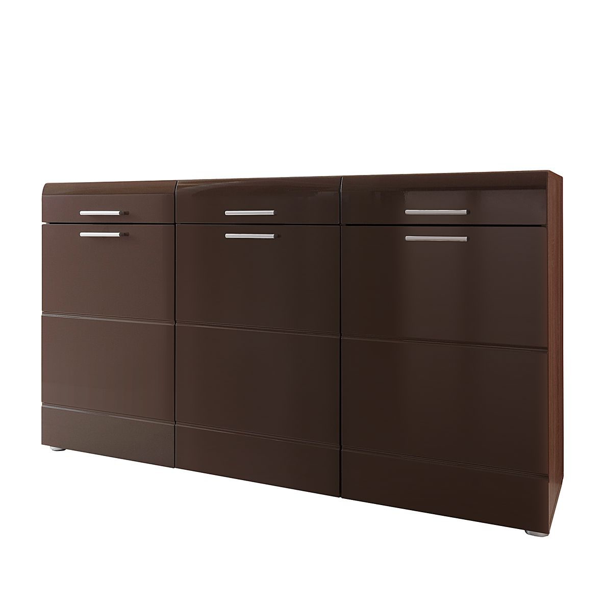 sideboard bilbao eiche tr ffel hochglanz schwarzbraun. Black Bedroom Furniture Sets. Home Design Ideas