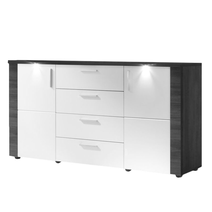 hochglanz sideboard grau sonstige preisvergleiche erfahrungsberichte und kauf bei nextag. Black Bedroom Furniture Sets. Home Design Ideas