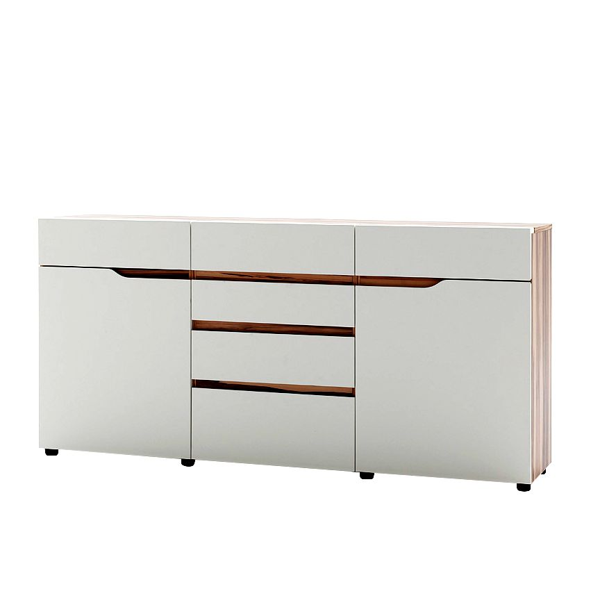 sideboard cancon satin nussbaum wei matt. Black Bedroom Furniture Sets. Home Design Ideas