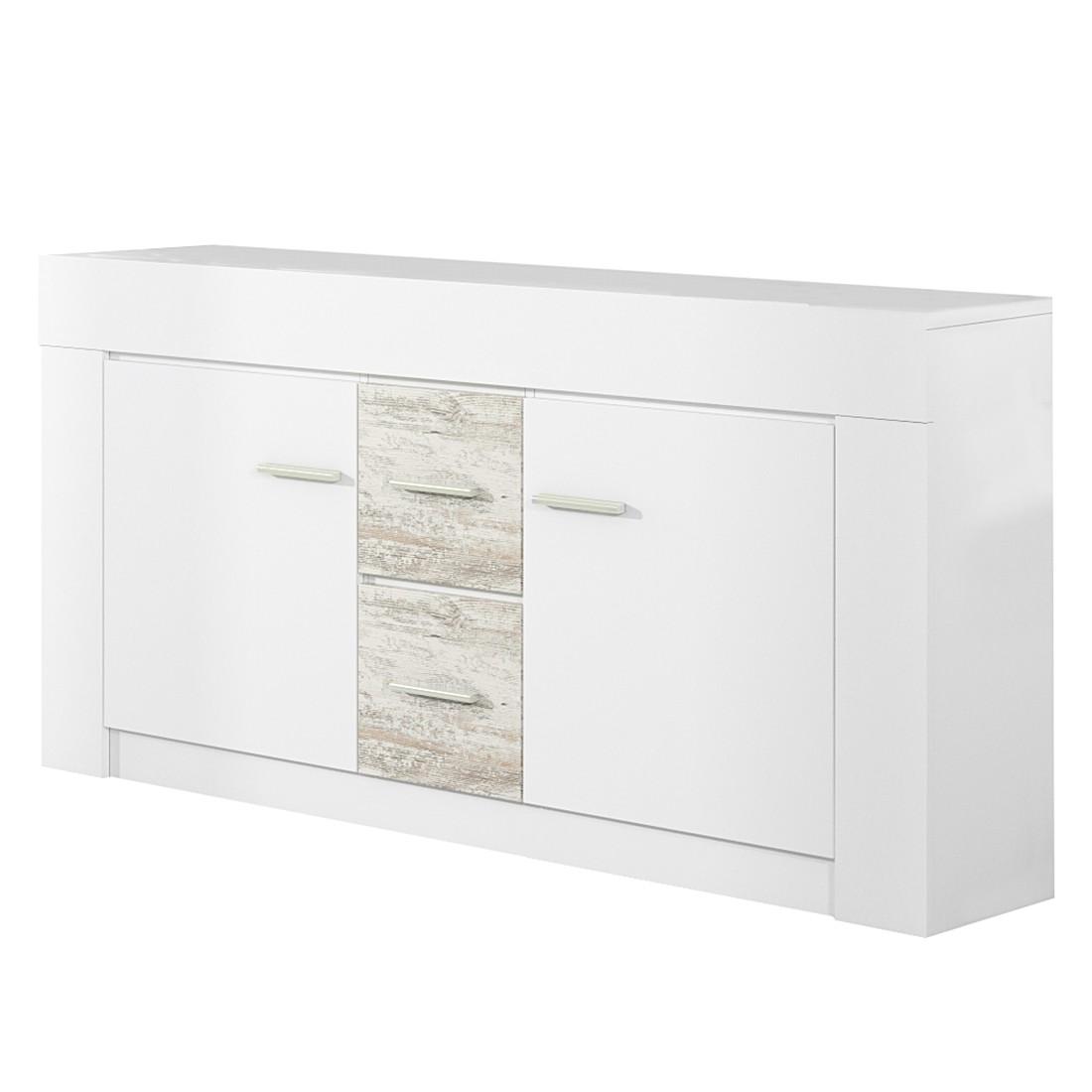 Sideboard Cast – Weiß/White Kiefer Dekor, Modoform jetzt kaufen