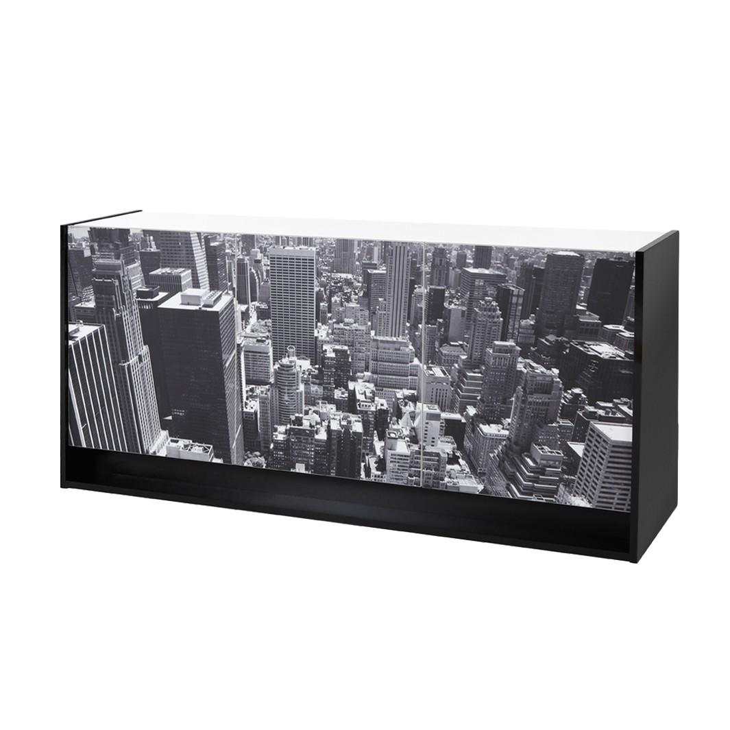 sideboard chester schwarz wei hochglanz mit gro em. Black Bedroom Furniture Sets. Home Design Ideas