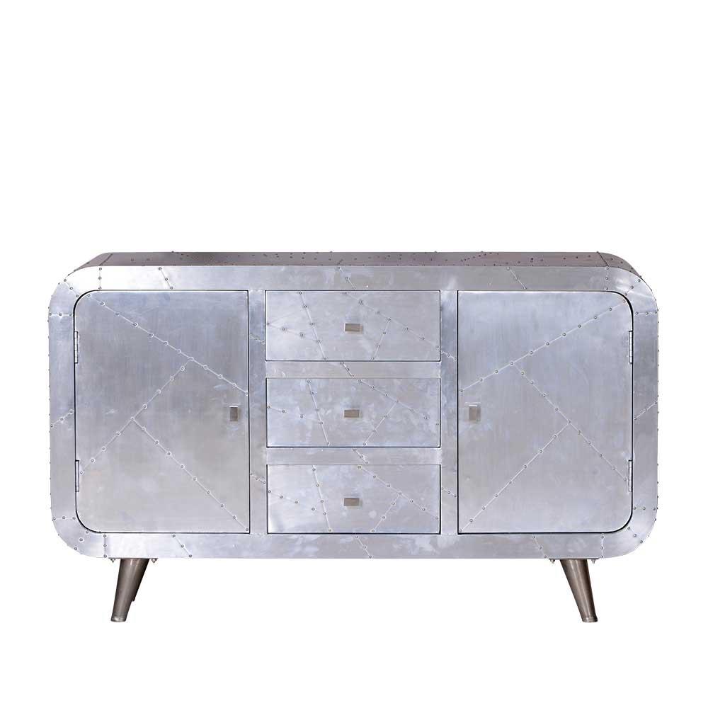 Sideboard Clairy – Alu beschlagen – Mangobaum Massiv/MDF, Möbel Exclusive online bestellen