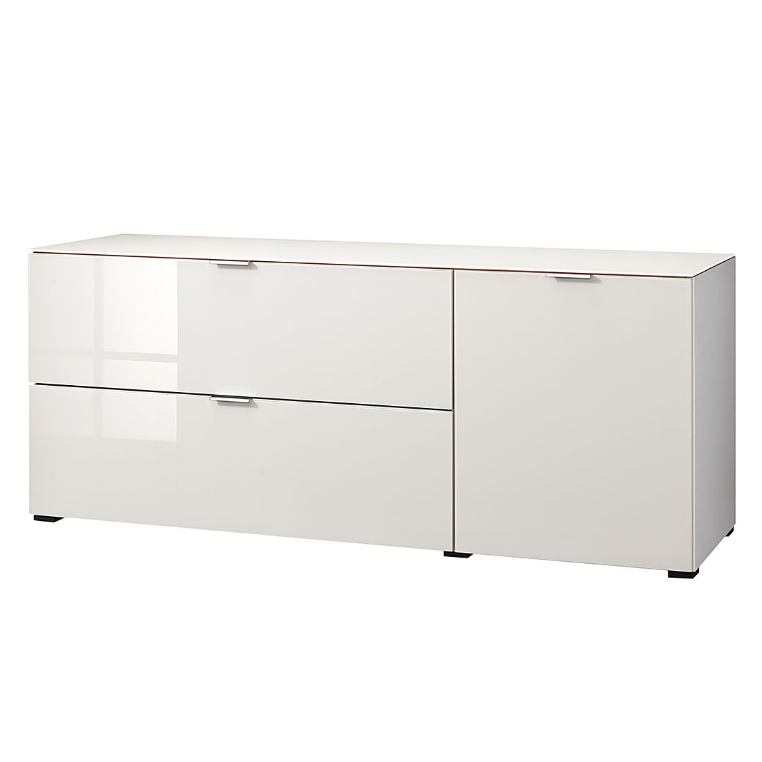 Sideboard cleo i wei glas sand cs schmal m cs kl0279 for Relaxsessel schmal