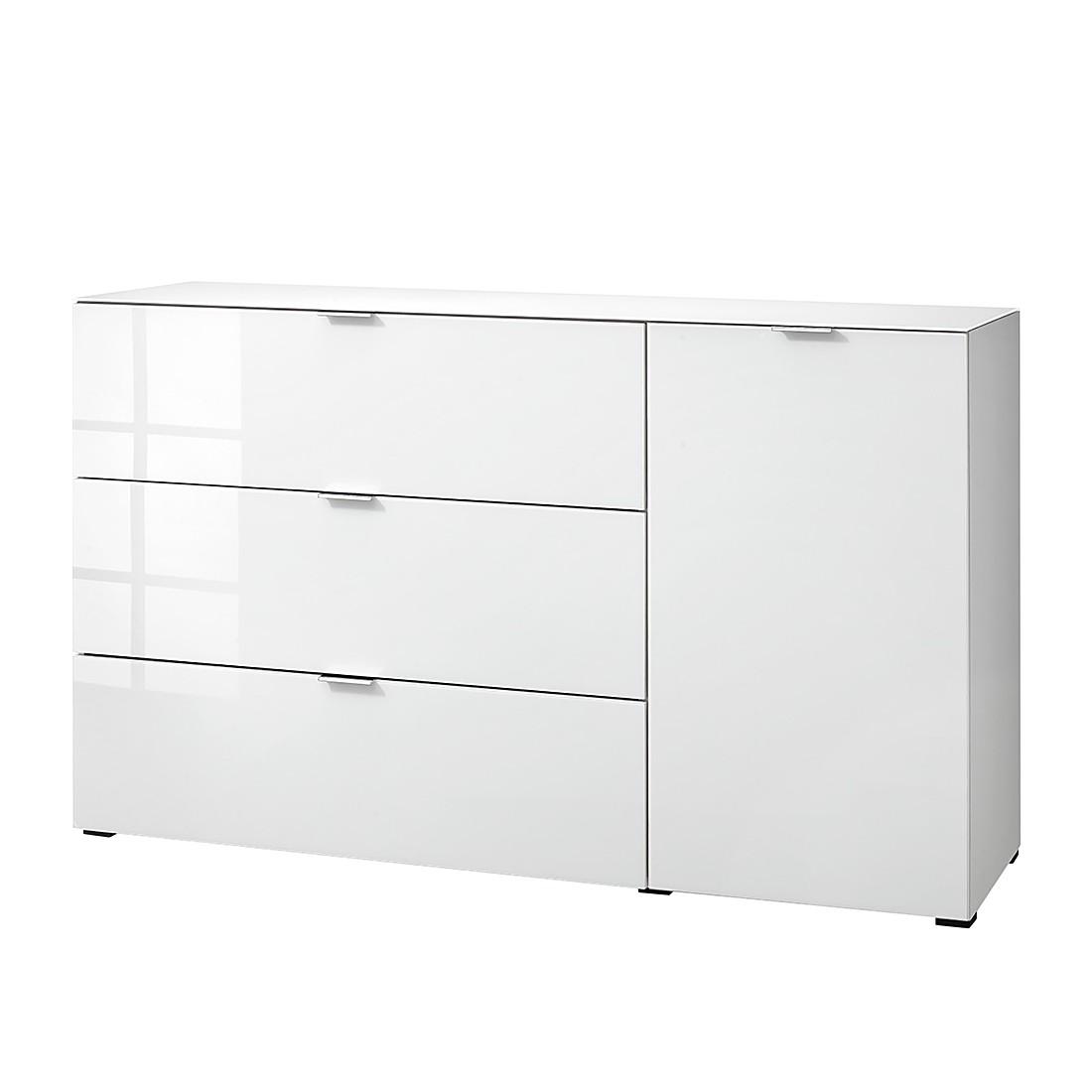 Sideboard Cleo III – Weiß  Weißglas, Cs Schmal – MCS