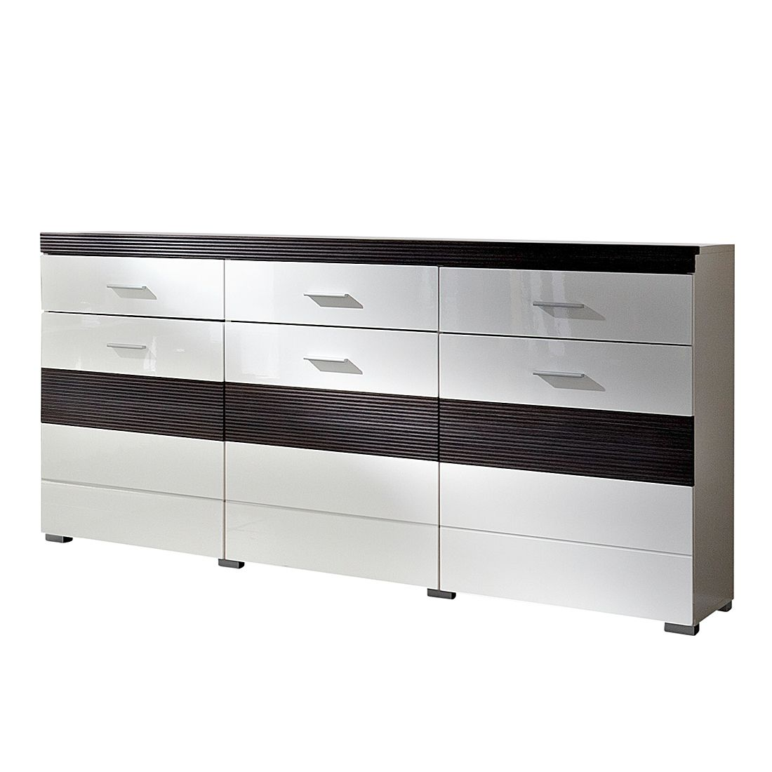 sideboard evora hochglanz wei pinie touchwood. Black Bedroom Furniture Sets. Home Design Ideas