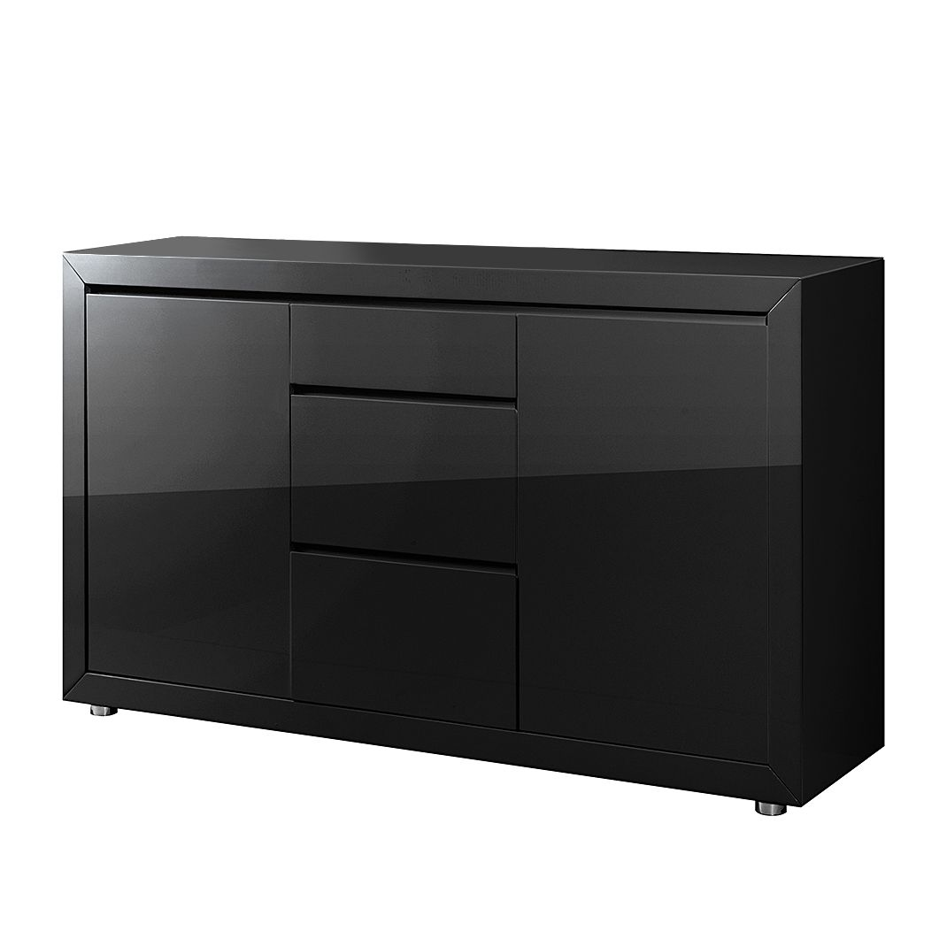 sideboard fina hochglanz schwarz. Black Bedroom Furniture Sets. Home Design Ideas