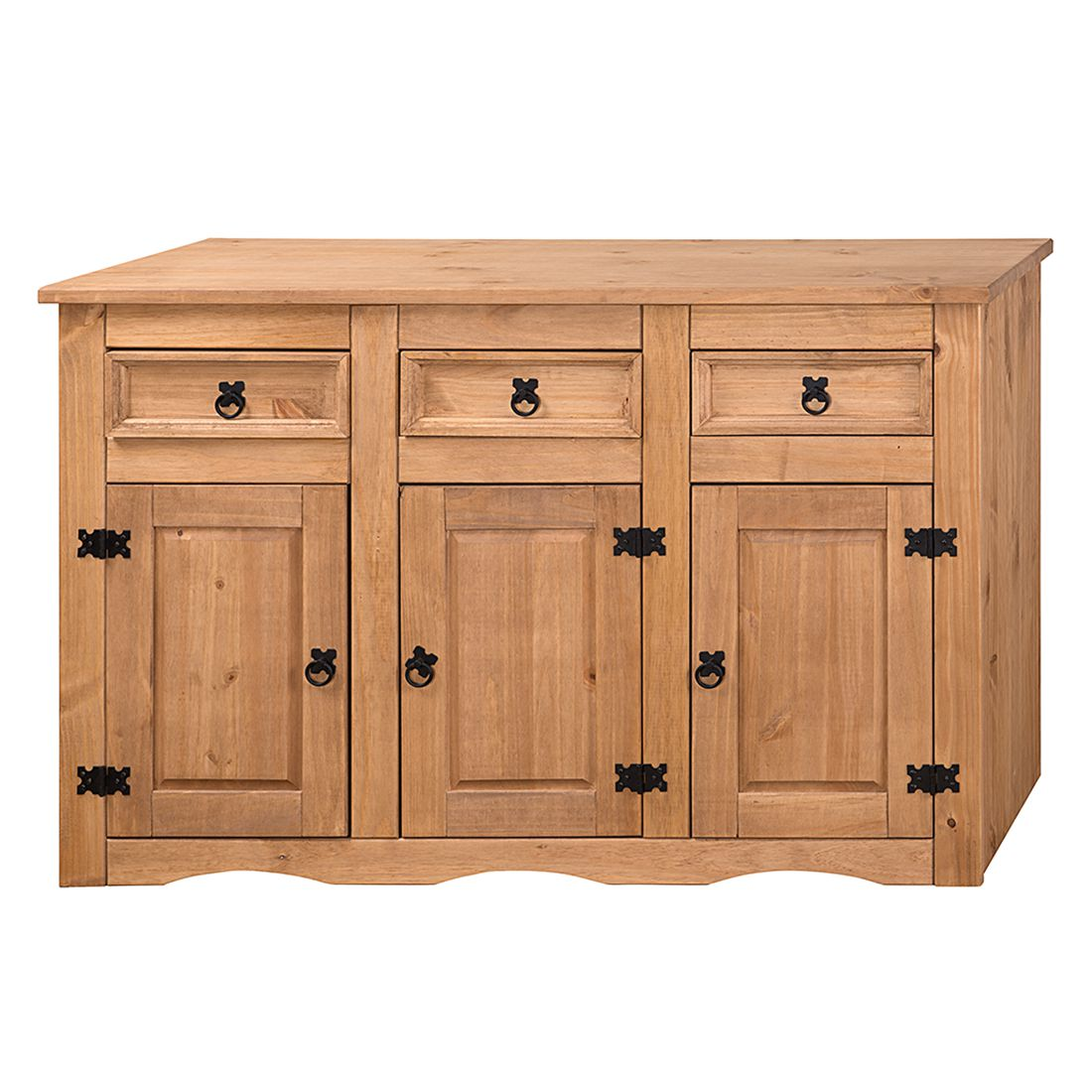sideboard finca rustica ii kiefer massiv gewachst. Black Bedroom Furniture Sets. Home Design Ideas