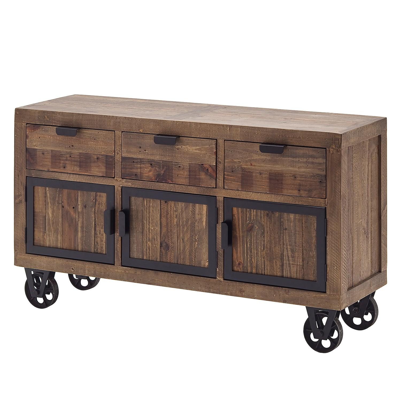 Sideboard Firlo III - Kiefer massiv - Antik Braun, furnlab