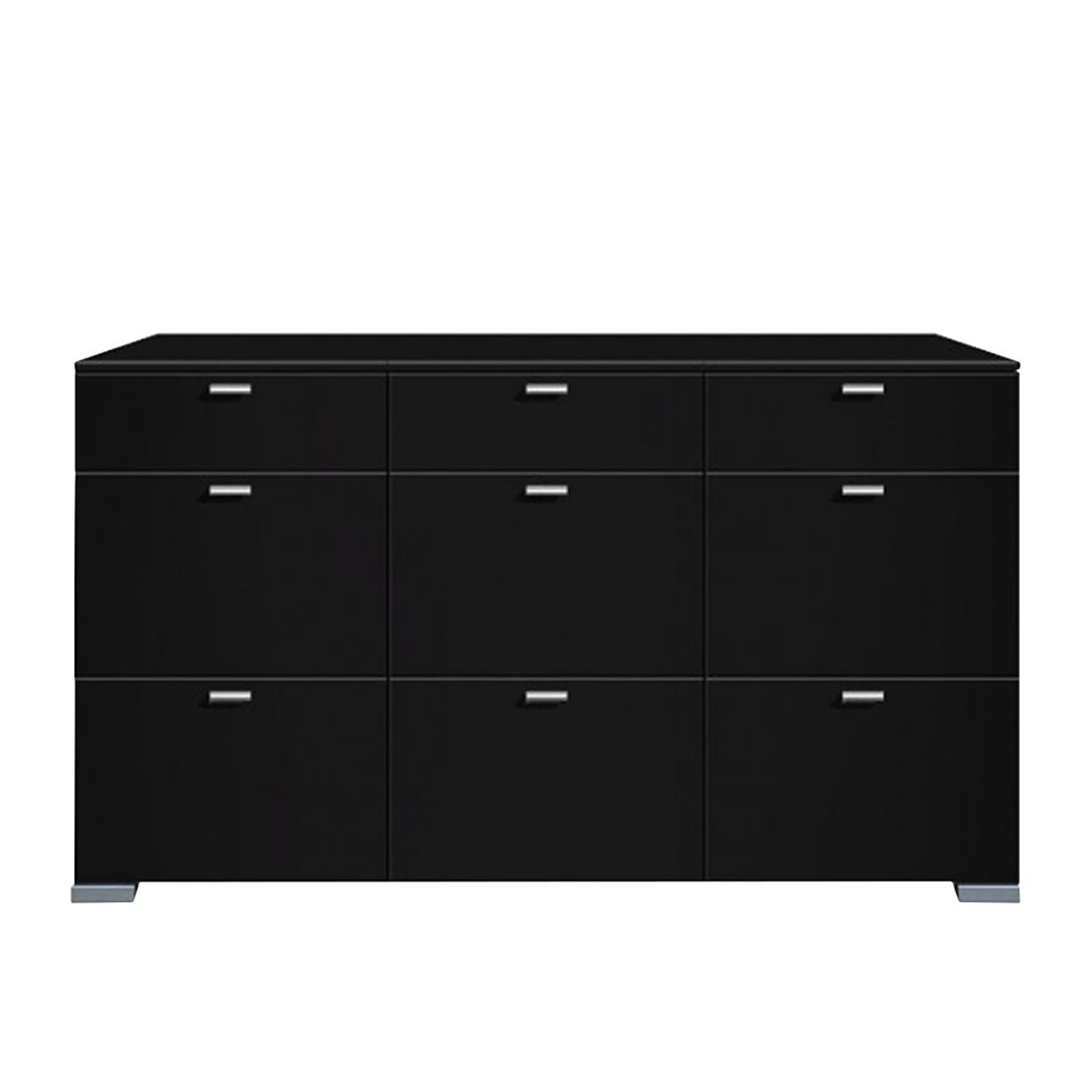 sideboard gallery schwarz sideboard gallery mit 9 schubladen schwarz. Black Bedroom Furniture Sets. Home Design Ideas