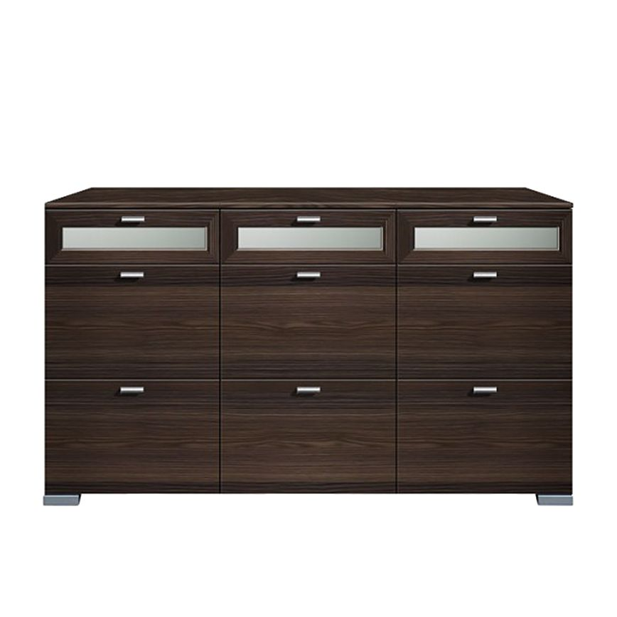 sideboard gallery 9 schubl den oberste 3 floatglas esche dunkel. Black Bedroom Furniture Sets. Home Design Ideas