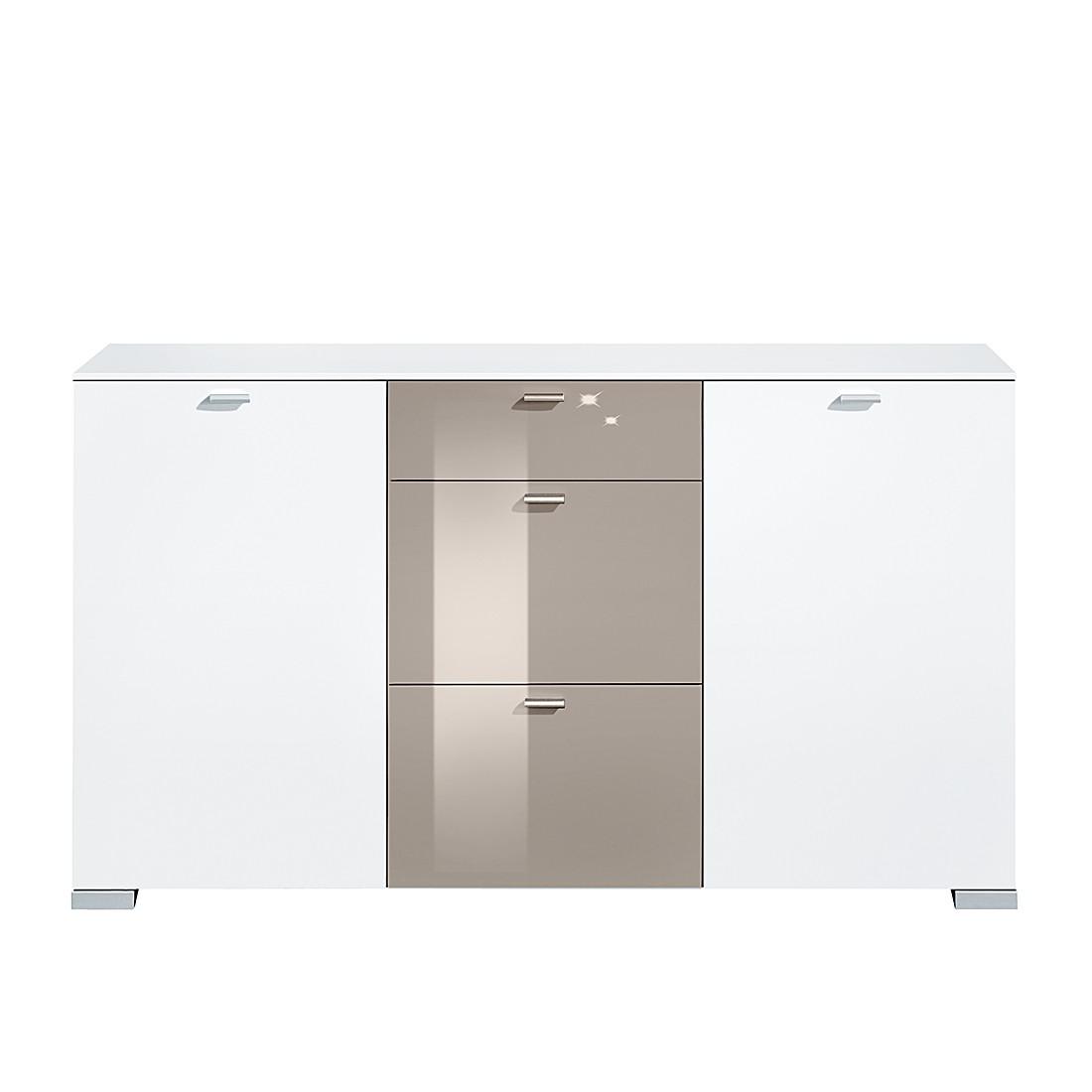 kleine meubels Dressoir Gallery HG (2-deurs) - wit/grijs hoogglans ...