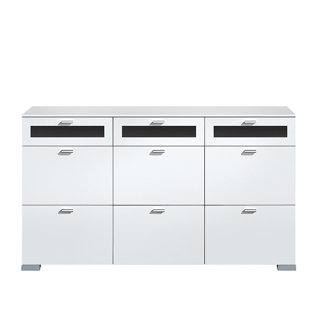 Sideboard Gallery Plus – 9 Schubladen/oberste 3/Glas – schwarz/weiß, Arte M günstig kaufen