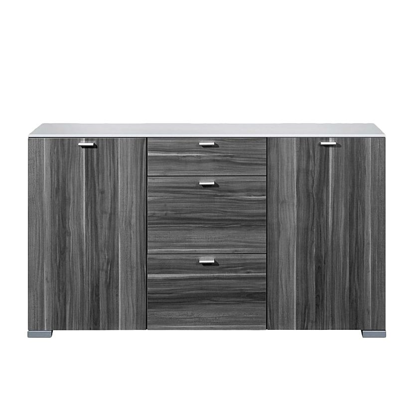 sideboard gallery wei nussbaum dekor grau. Black Bedroom Furniture Sets. Home Design Ideas