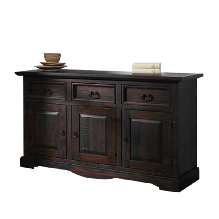 sideboard glory pinie massiv dunkel gebeitzt. Black Bedroom Furniture Sets. Home Design Ideas
