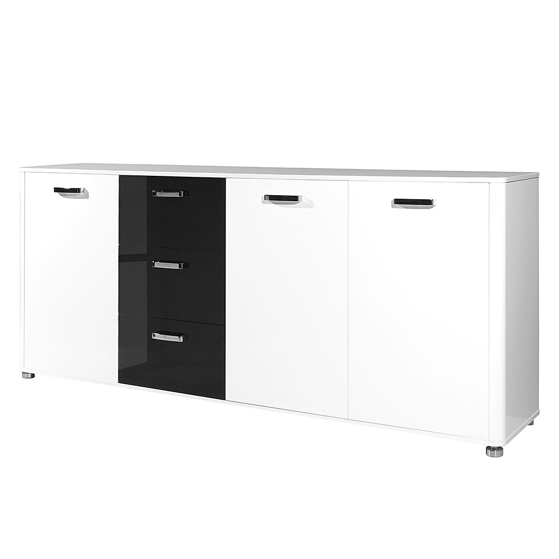sideboard ii bicolore wei schwarz top square bestellen. Black Bedroom Furniture Sets. Home Design Ideas