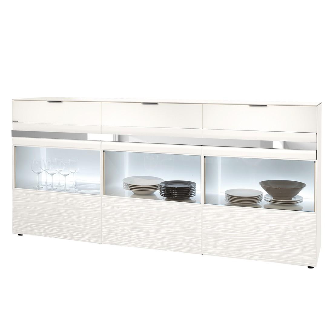sideboard invito iii mit beleuchtung polarwei holtkamp g nstig online kaufen. Black Bedroom Furniture Sets. Home Design Ideas