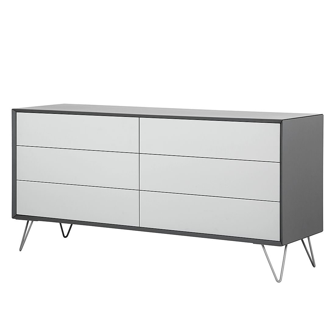 sideboard jerrell ii matt grau m rteens kleinm bel. Black Bedroom Furniture Sets. Home Design Ideas