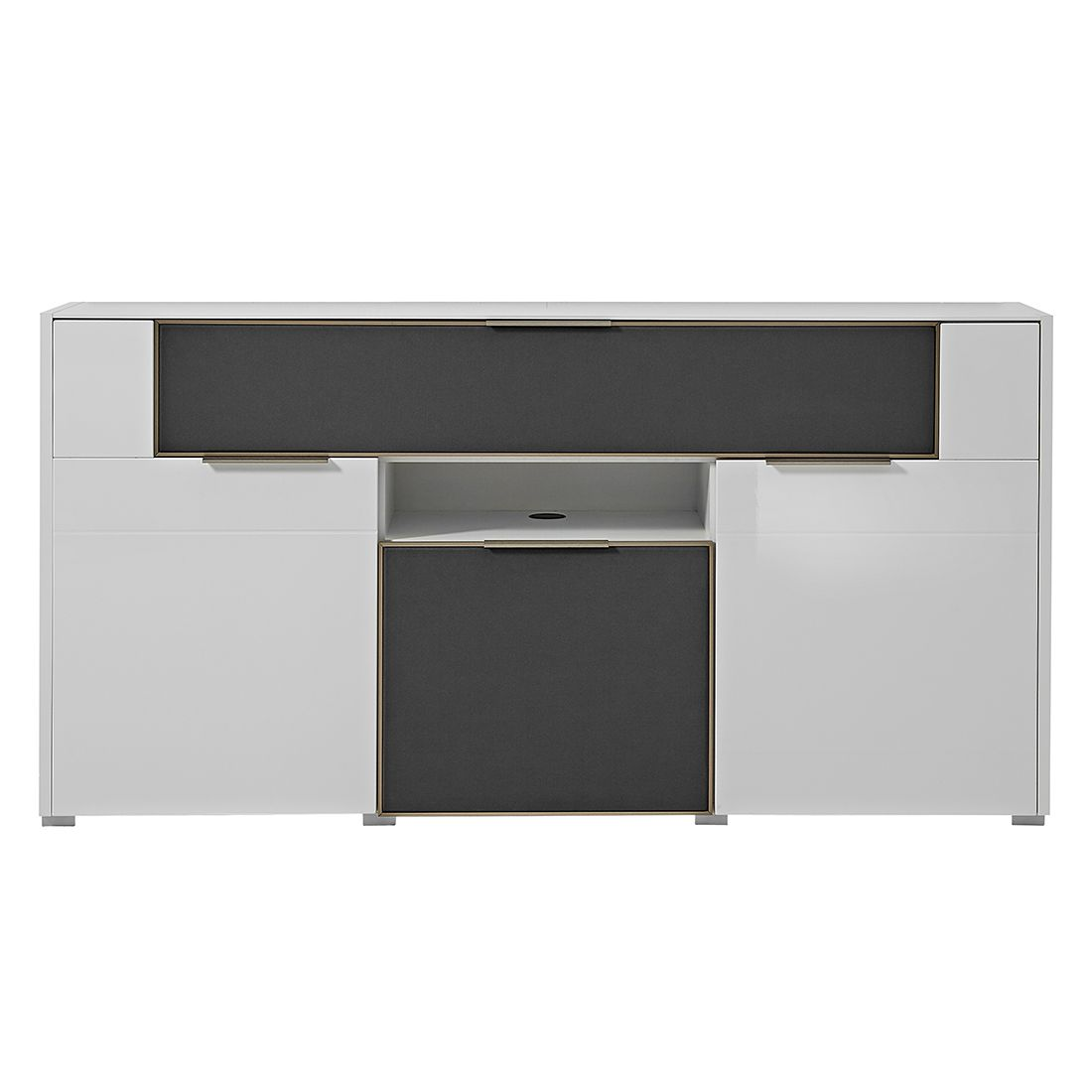 hochglanz sideboard grau preisvergleiche. Black Bedroom Furniture Sets. Home Design Ideas