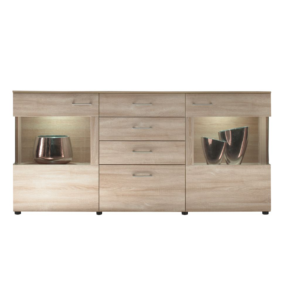 sideboard liam eiche sonoma dekor. Black Bedroom Furniture Sets. Home Design Ideas
