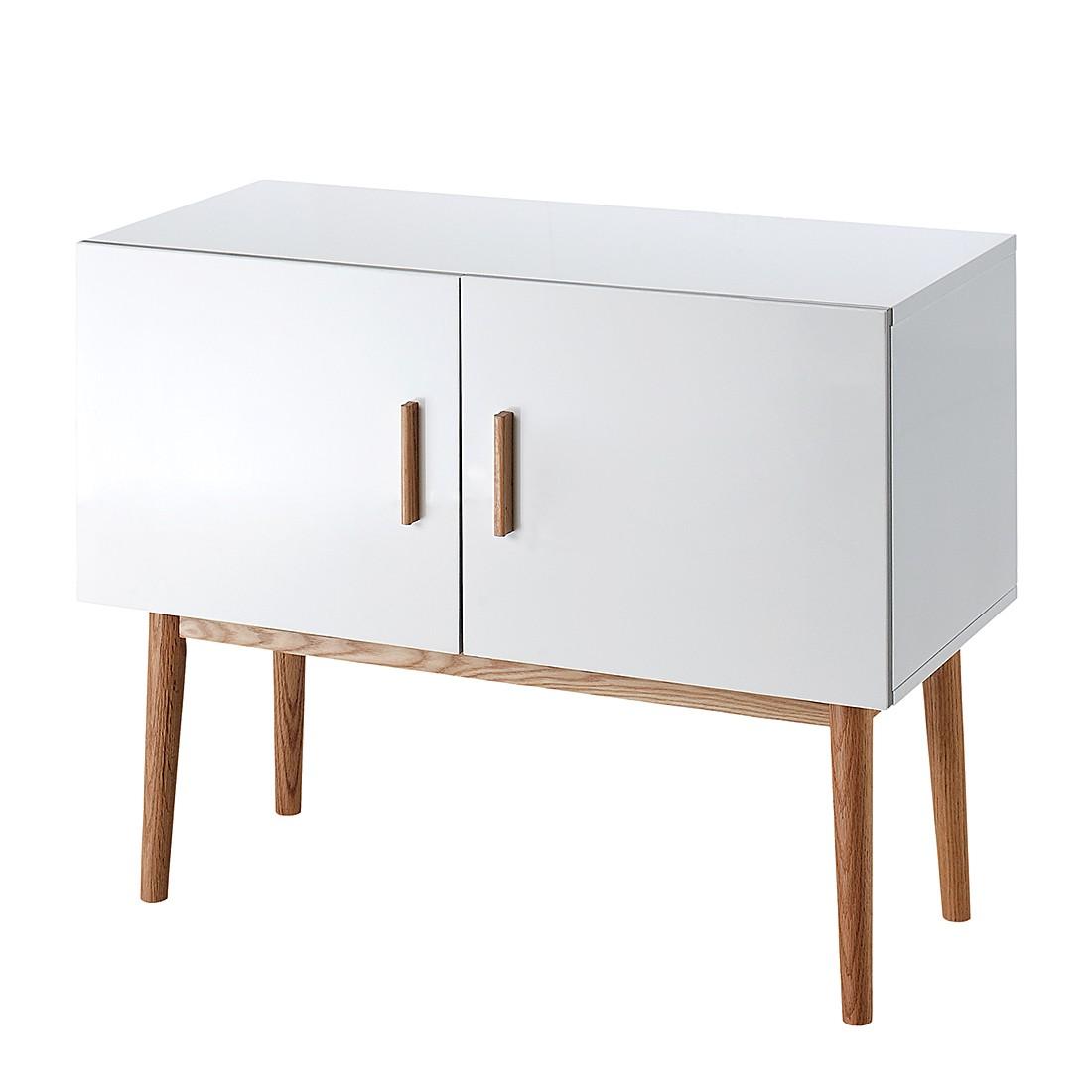sideboard lindholm wei matt eiche massiv. Black Bedroom Furniture Sets. Home Design Ideas