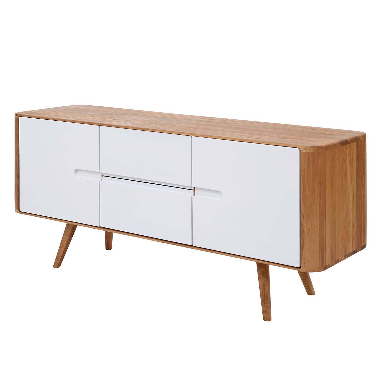 Sideboard Loca I - Wildeiche massiv - Weiß / Wildeiche - 135 cm, Studio Copenhagen