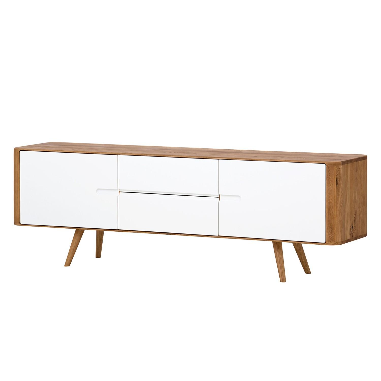 Sideboard Loca I - Wildeiche massiv - Weiß / Wildeiche - 180 cm, Studio Copenhagen