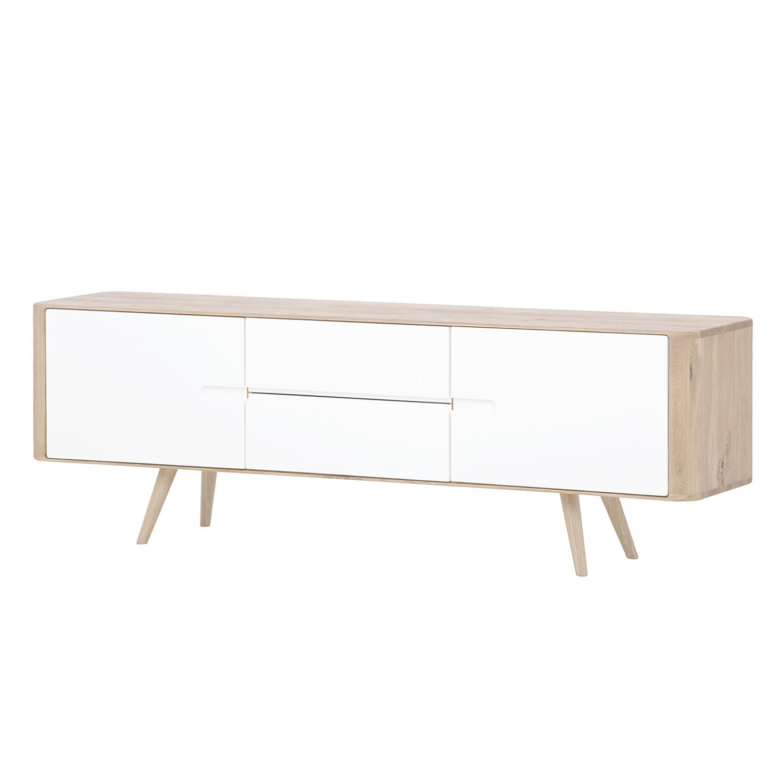 Sideboard Loca I - Wildeiche massiv - Weiß / Wildeiche hell - 180 cm, Studio Copenhagen