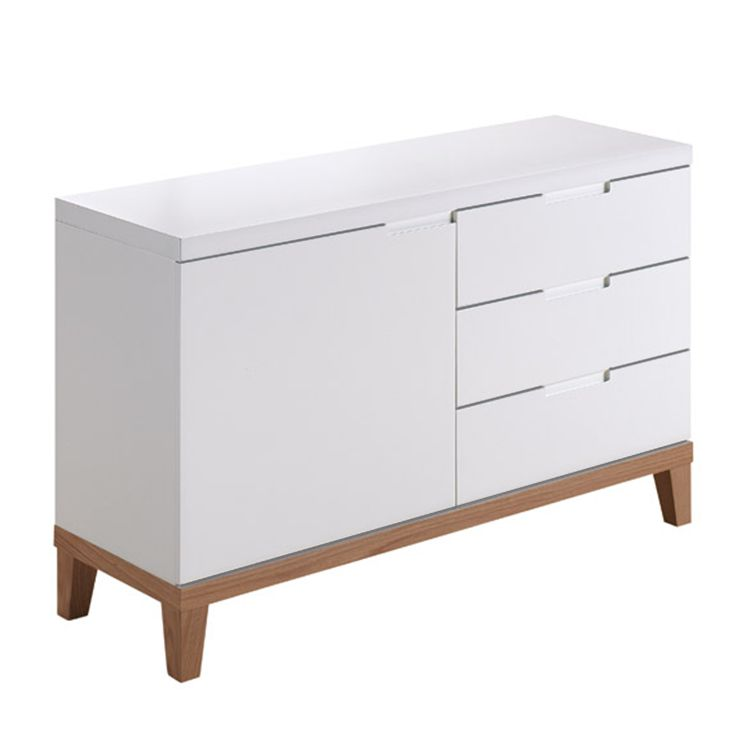 sideboard blomquist i matt wei roteiche furnier m rteens kaufen. Black Bedroom Furniture Sets. Home Design Ideas