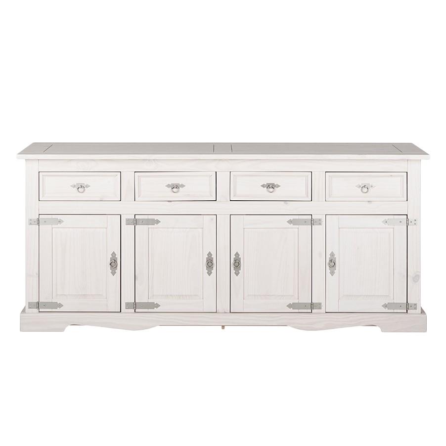 sideboard lucia iv kiefer massiv wei landhaus. Black Bedroom Furniture Sets. Home Design Ideas