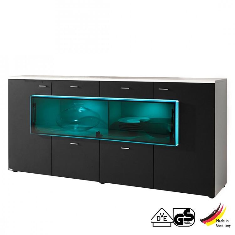 Sideboard Magic Box Weiss Schwarz Schrank Info Schrank Info