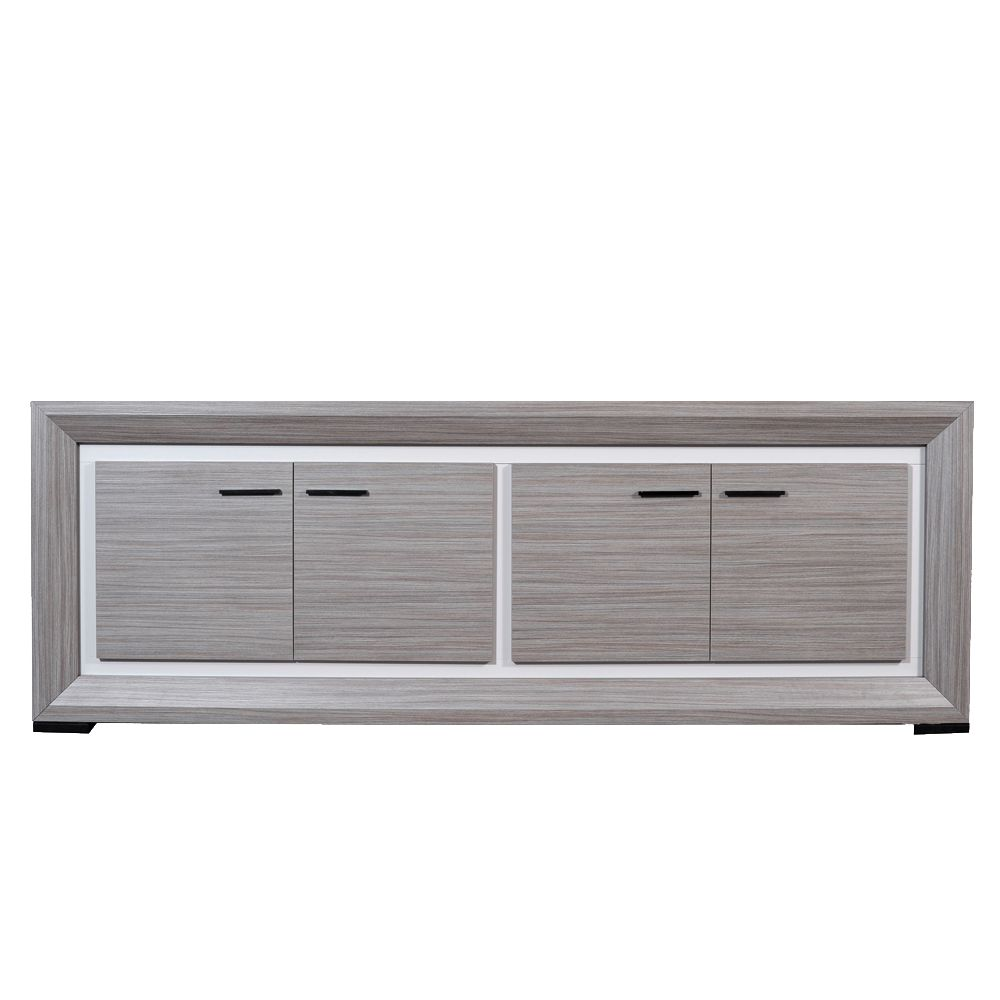 sideboard mambo teak grau dekor wei viert rig. Black Bedroom Furniture Sets. Home Design Ideas