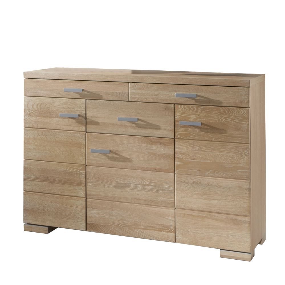 sideboard manifesto eiche s gerau teilmassiv drei t ren drei schubladen. Black Bedroom Furniture Sets. Home Design Ideas