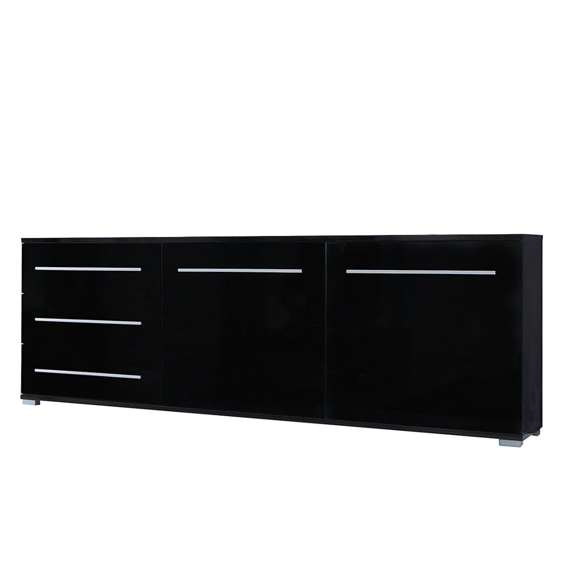 sideboard mert schwarz hochglanz. Black Bedroom Furniture Sets. Home Design Ideas