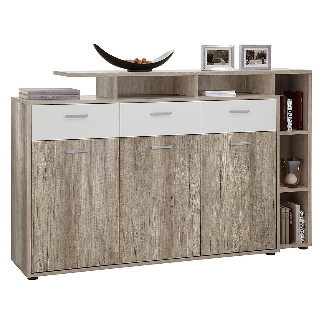 sideboard m ller eiche dekor foliert beschichtet mooved g nstig kaufen. Black Bedroom Furniture Sets. Home Design Ideas