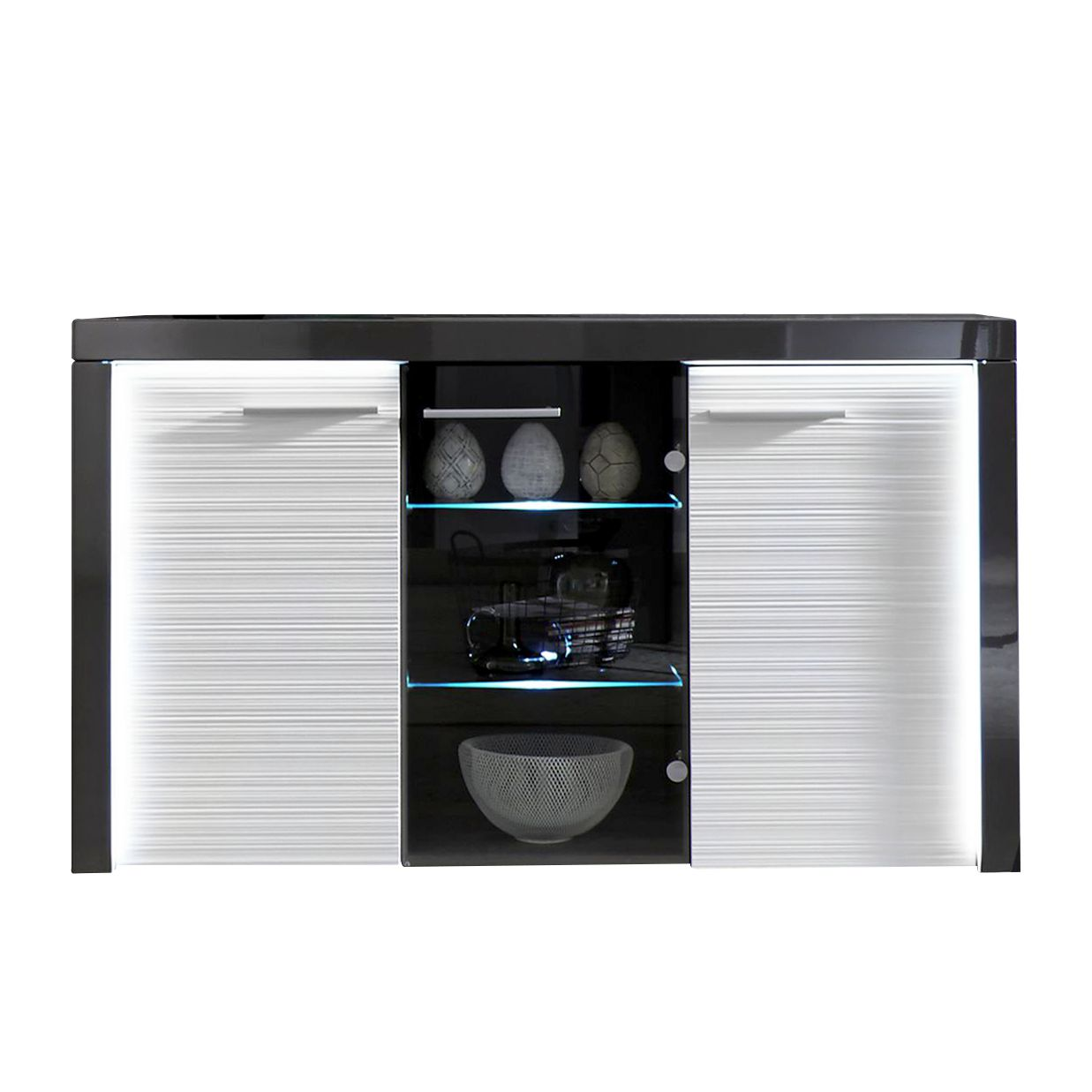 sideboard wei mit beleuchtung g nstig kaufen. Black Bedroom Furniture Sets. Home Design Ideas