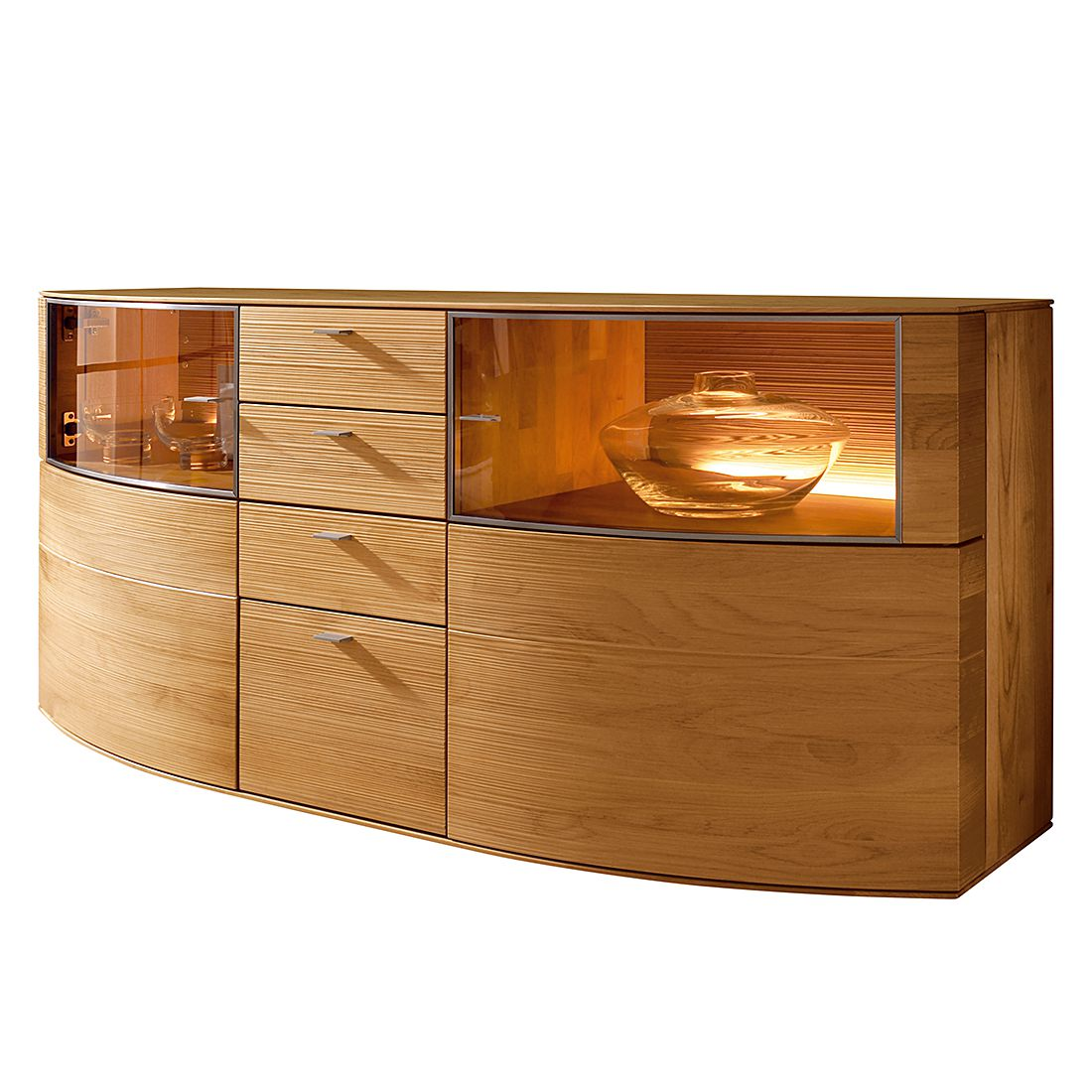 sideboard optima erle massiv ohne beleuchtung. Black Bedroom Furniture Sets. Home Design Ideas