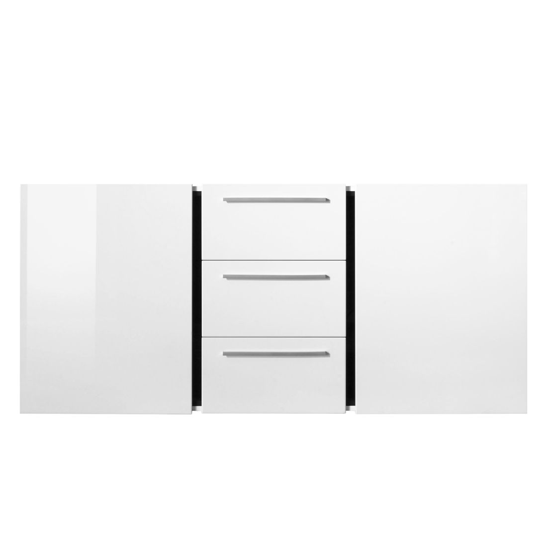 sideboard polytop hochglanz wei mit beleuchtung. Black Bedroom Furniture Sets. Home Design Ideas
