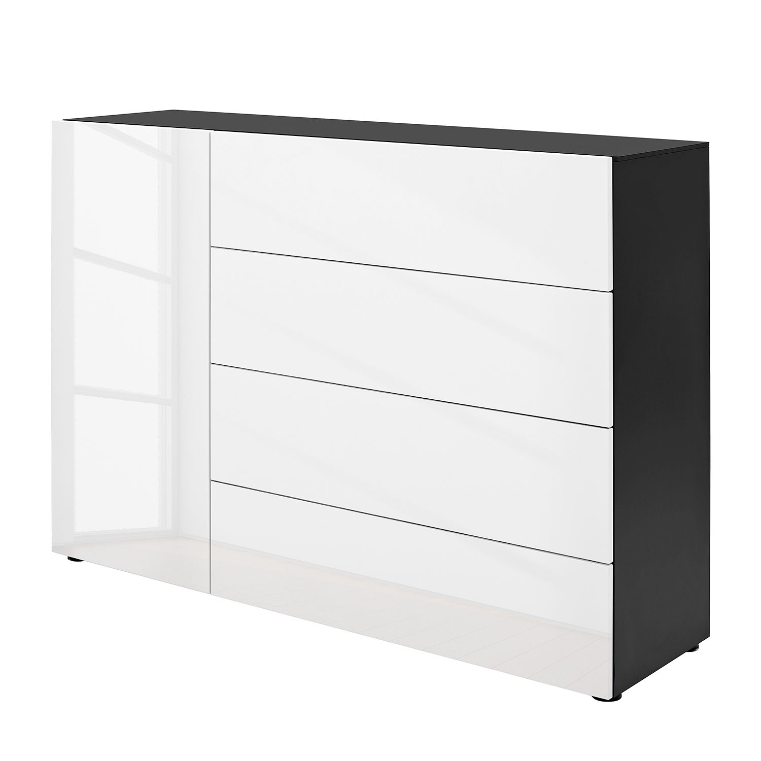 sideboard anthrazit hochglanz simple fabulous sideboard hochglanz grau with sideboard grau. Black Bedroom Furniture Sets. Home Design Ideas