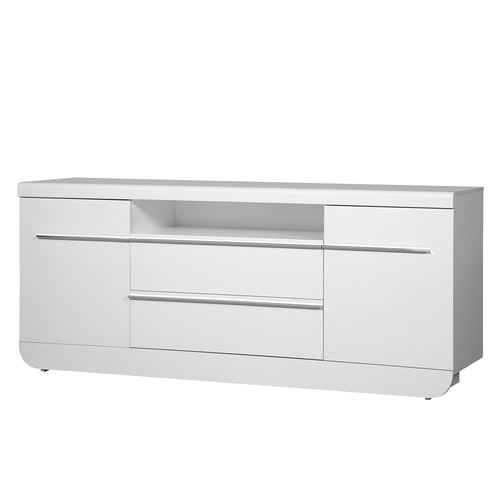 Sideboard Shine - Weiß Hochglanz - Mit Soft-Close - Schrank.info ...
