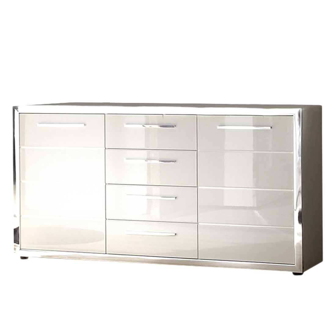 sideboard chrome hochglanz wei roomscape online bestellen. Black Bedroom Furniture Sets. Home Design Ideas