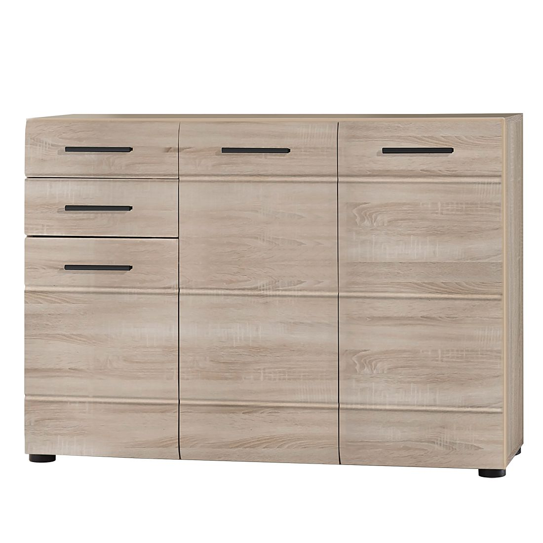 sideboard storm ii eiche s gerau hell dekor. Black Bedroom Furniture Sets. Home Design Ideas
