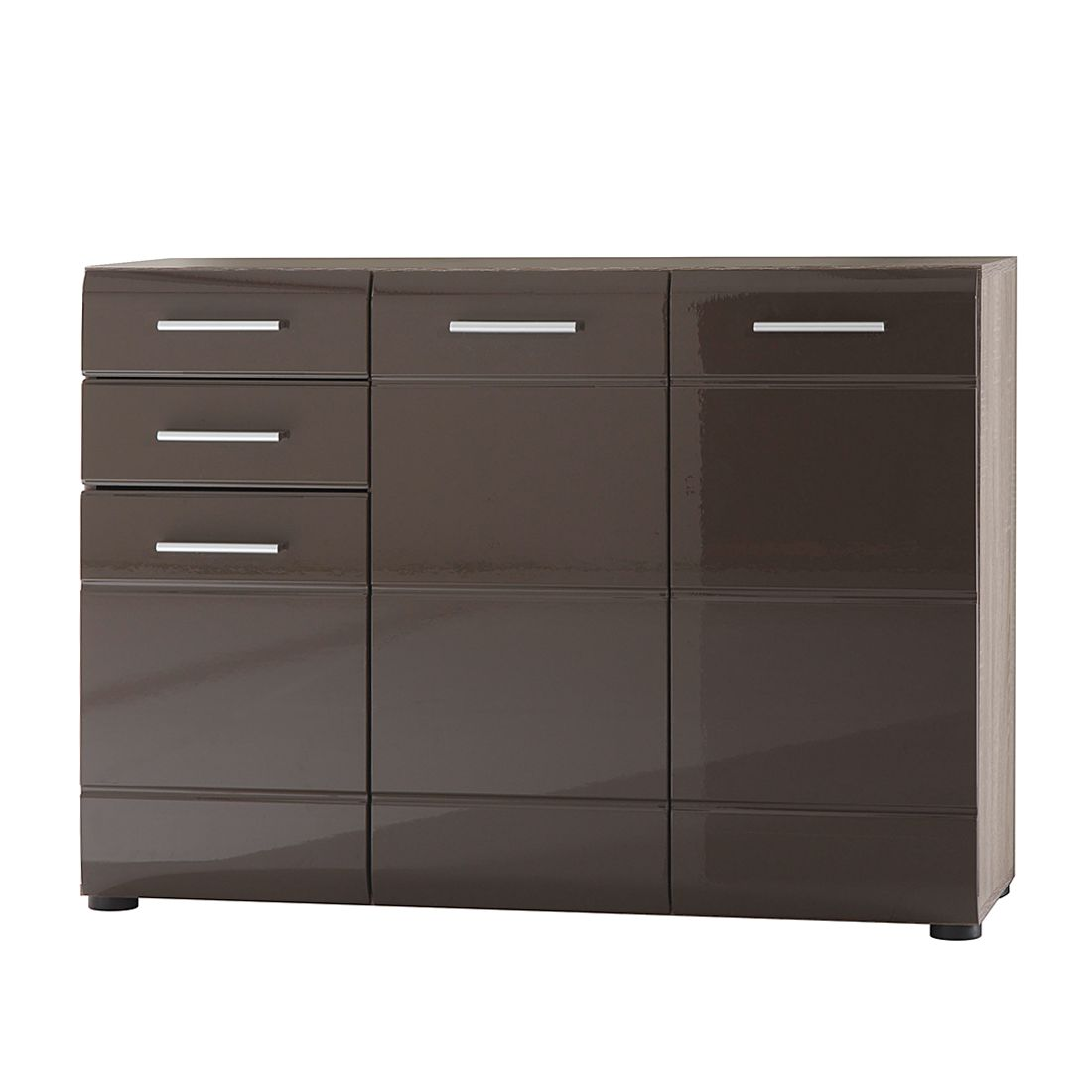 sideboard storm ii eiche s gerau dunkel dekor blackbrown hochglanz. Black Bedroom Furniture Sets. Home Design Ideas