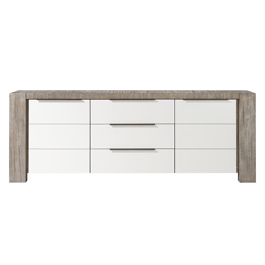 sideboard tacora akazie teilmassiv braun wei ma e 190 x 80 cm habufa tipps vom einrichter. Black Bedroom Furniture Sets. Home Design Ideas