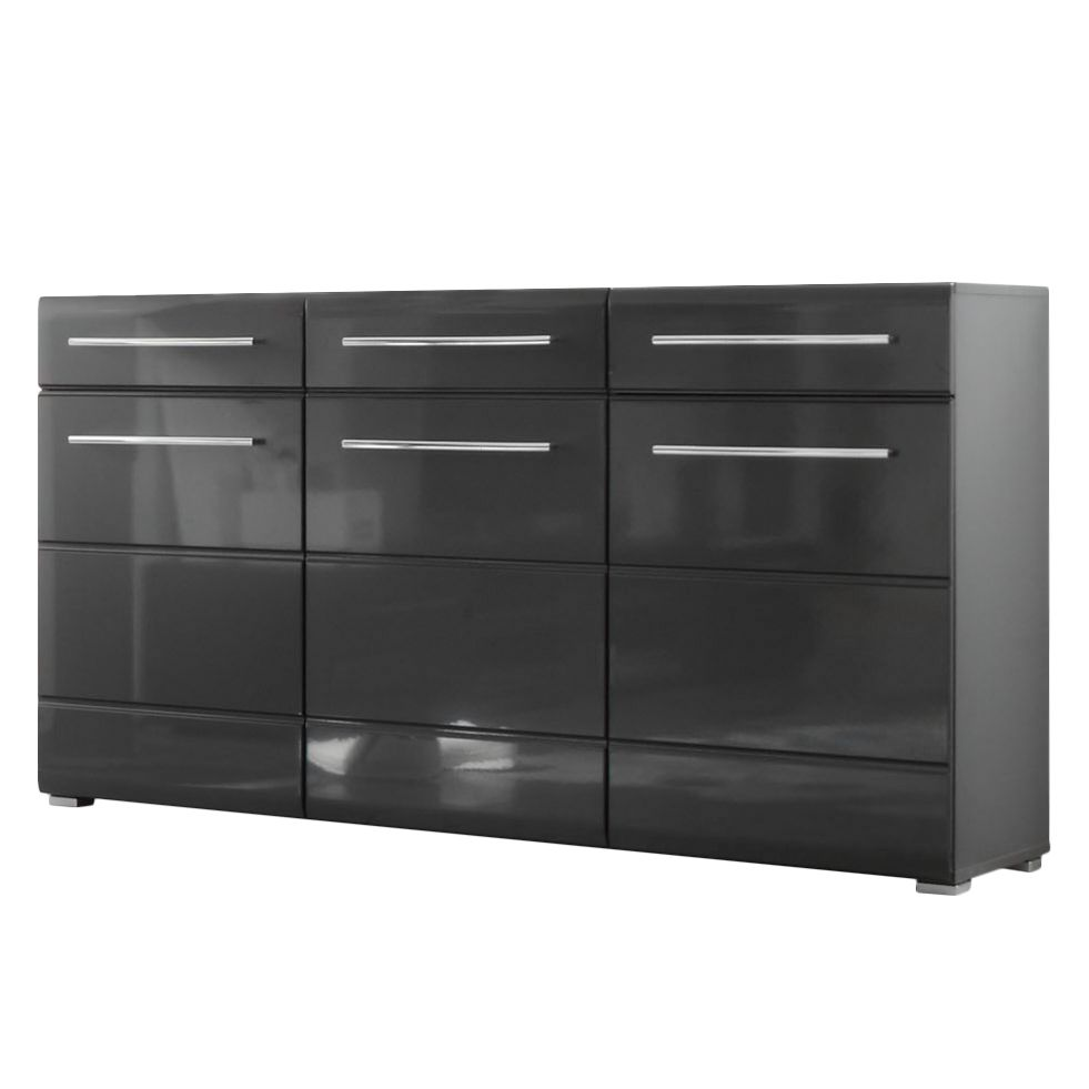 sideboard tadeus hochglanz grau grau ebay. Black Bedroom Furniture Sets. Home Design Ideas